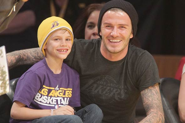 David Beckham and Cruz