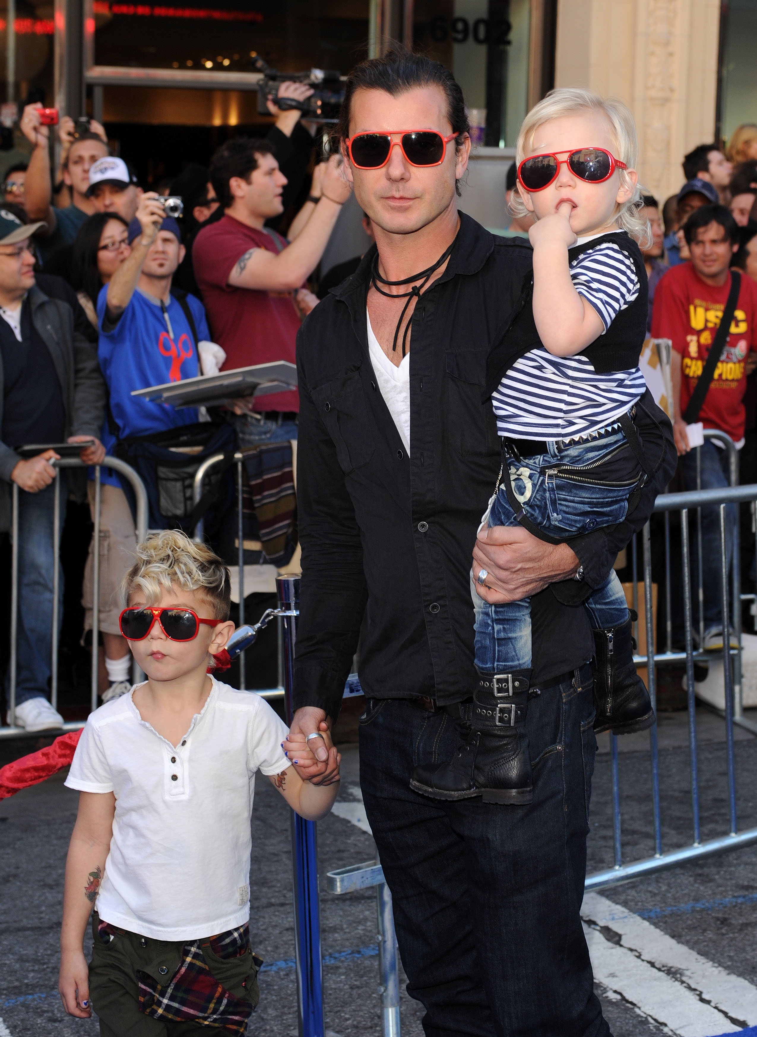 Gavin Rossdale and Kingston and Zuma