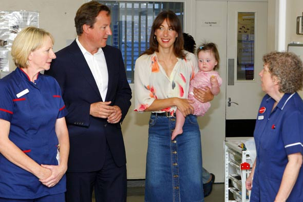 David and Samantha Cameron show off cute daughter Florence
