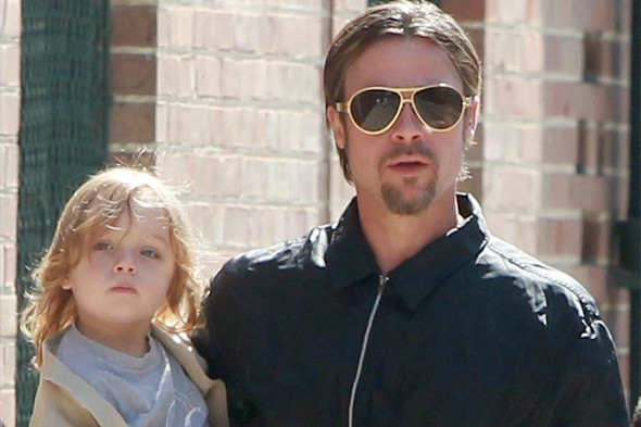 Brad Pitt, dad to Maddox, Pax, Zahara, Shiloh, and twins Knox and Vivienne