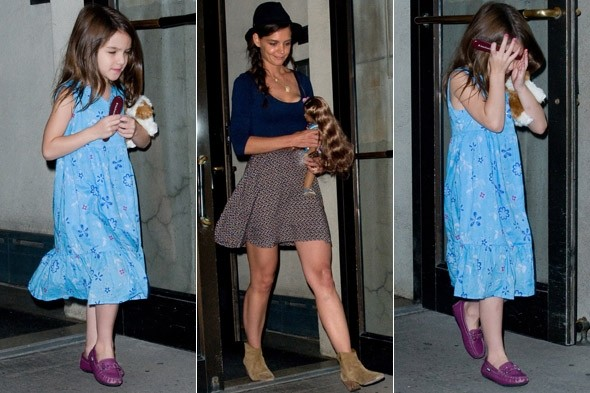 Suri Cruise looks like a normal five-year-old - but still has to cope with photographers