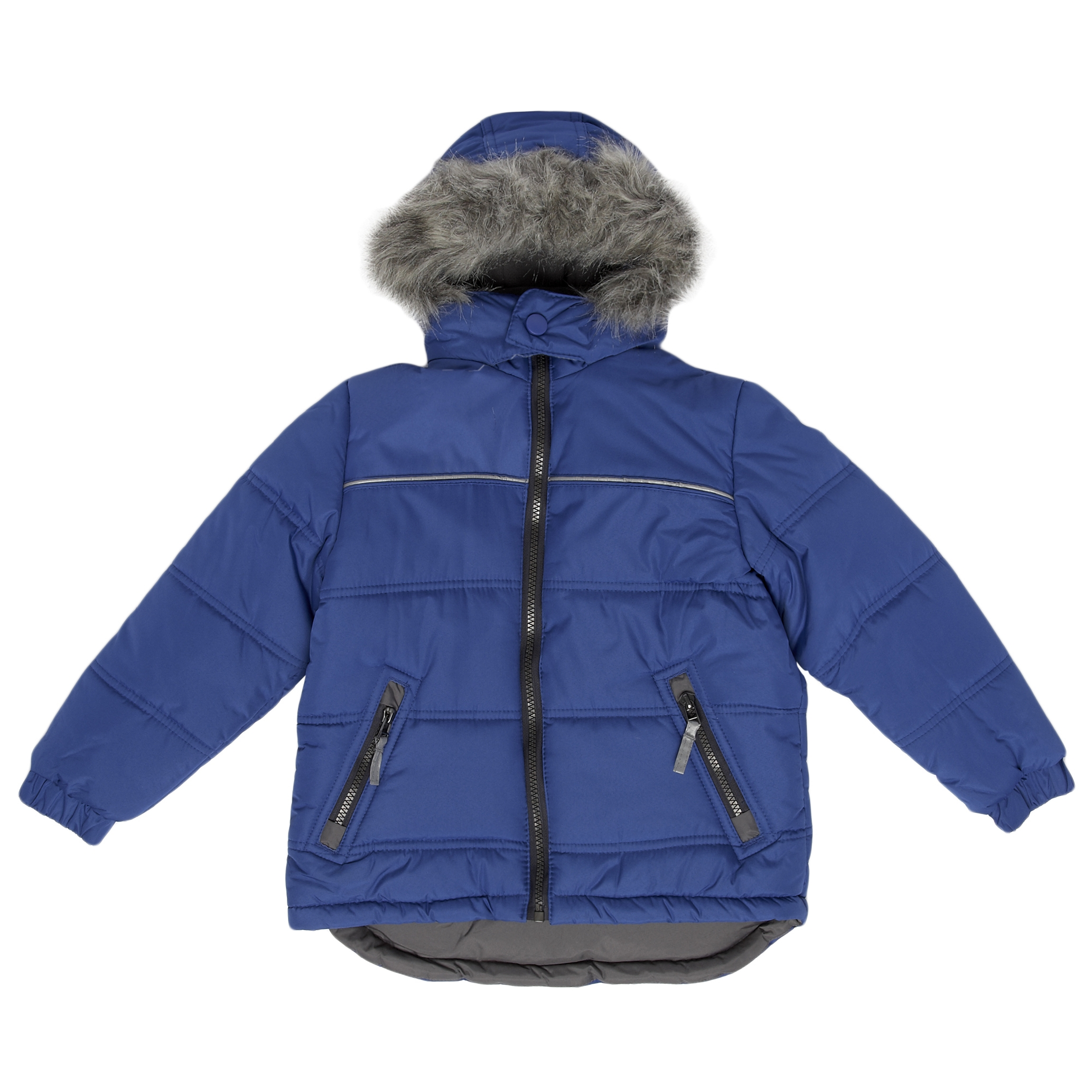 Bluezoo at Debenhams Boys&acirc; Faux Fur Trim Jacket