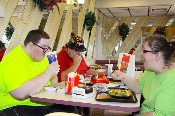 Cynthia Williams takes her obsese sons Matthew and Joseph to McDonalds