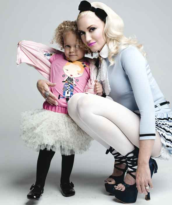 Gwen Stefani launches and models for new children's clothing range Harajuka Mini
