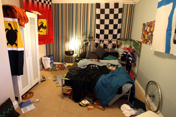 Messy teenager's bedroom