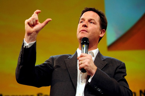 Nick Clegg at Liberal Democrat party conference