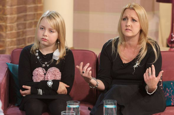 Livvy James on This Morning with her mother Saffron