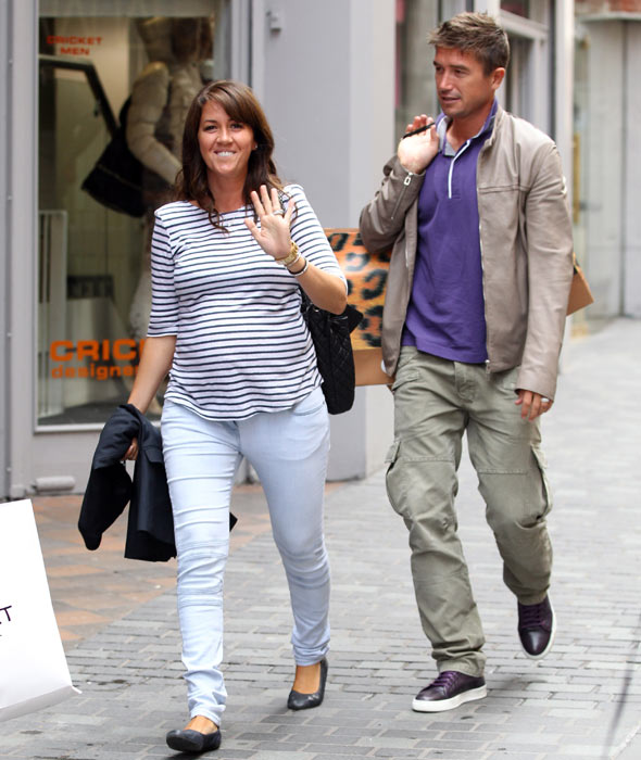 Pregnant Sheree Murphy and husband Harry Kewell