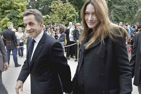 Carla Bruni and Nicolas Sarkozy name their daughter Giulia