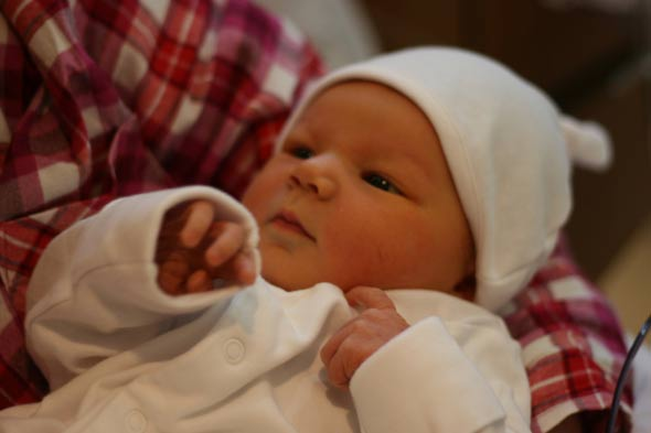 Baby Evie, born on Christmas Day