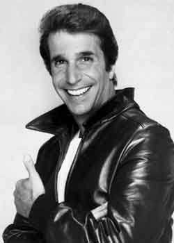 The Fonz doing a thumbs-up
