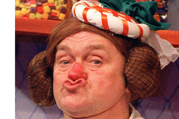 Comedian Les Dawson as a mother-in-law