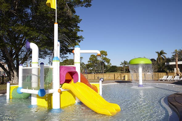 The kids' splash pool where hours of fun awaits