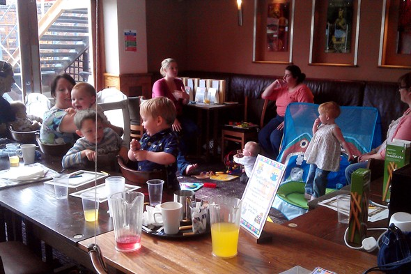 Pub opens baby and toddler group in its bar!