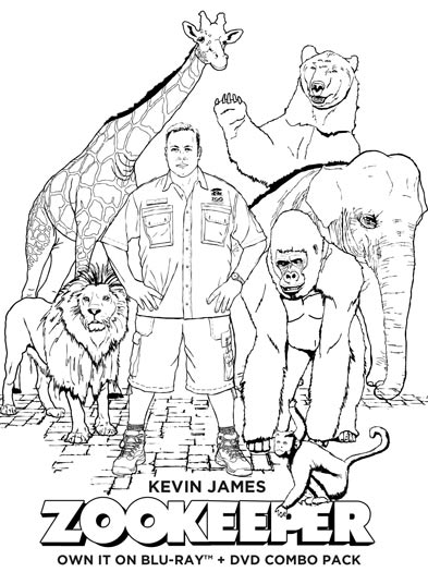 zookeeper coloring pages - photo#9