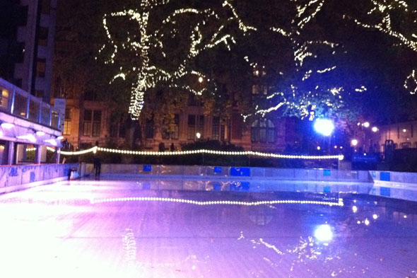 Ice rink at the Natural History Museum