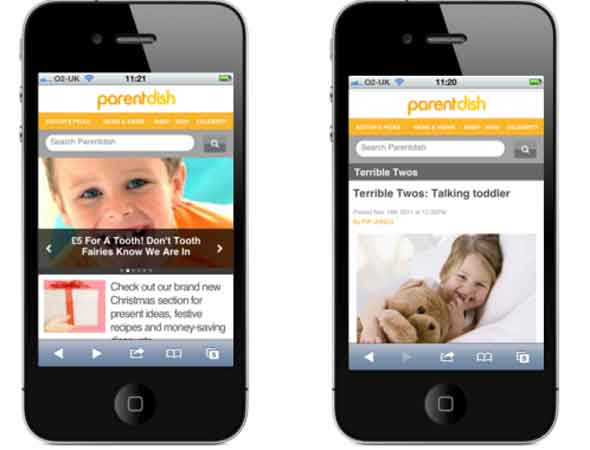 Parentdish mobile site