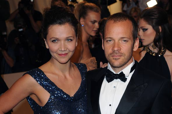 Actress Maggie Gyllenhaal with husband Peter Sarsgaard
