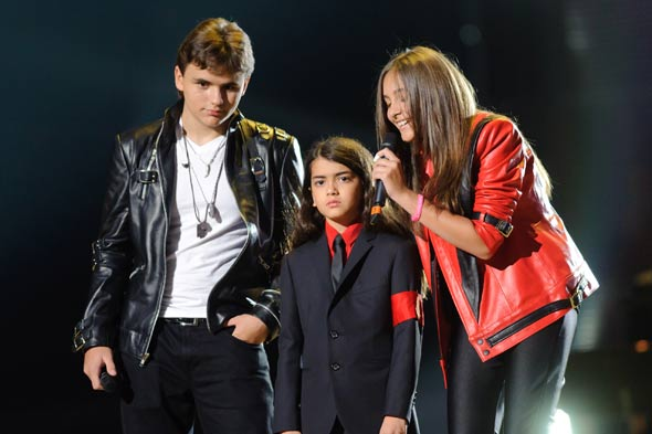 Michael Jackson's children Prince Michael, Paris and Prince Michael II