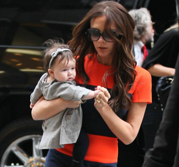 Harper Seven Beckham goes shopping with mum Victoria
