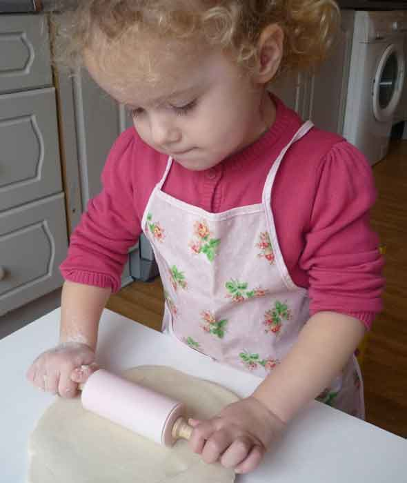 rolling out salt dough