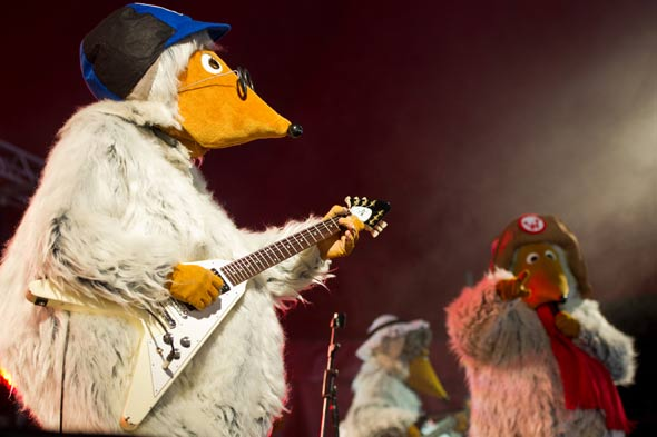 Wouldn't have happened on Wimbledom Common: Parents complain after Womble removes head live on webcast