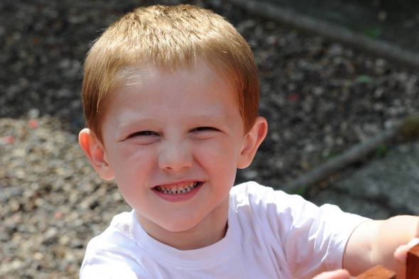 Four-year-old threatened with fine for being too loud in his own garden