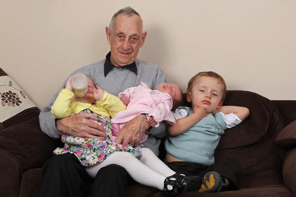 77-year-old dad has third baby in three years