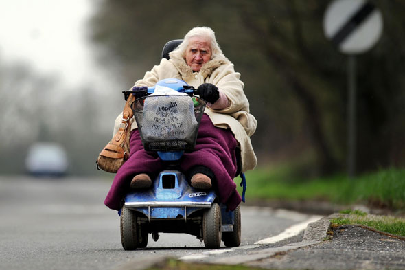 Image result for old lady on scooter