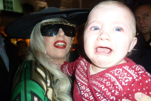 Lady Gaga scares small child