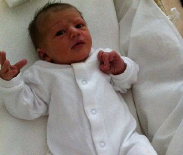 Kate Silverton shows off baby Clemency