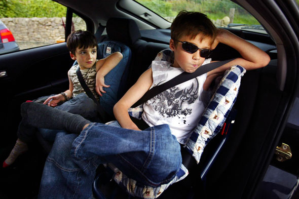 Driver put four children in boot of car for journey!