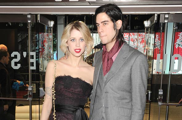 Pregnant Peaches Geldof and Thomas Cohen