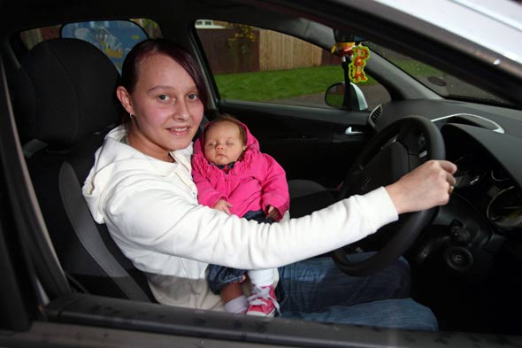 Mum takes driving test while having contractions