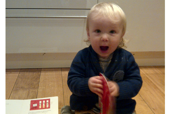 Toddler Tales: Baby Diana reading