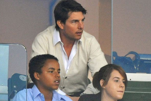 Tom Cruise with daughter Isabella and son Connor