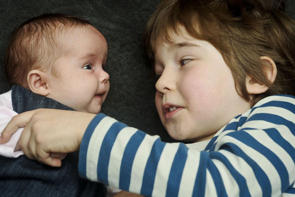 Twins born FIVE years apart: Baby Floren and Reuben Blake