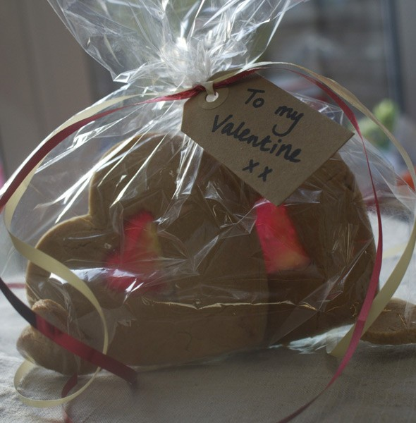 Spiced love heart cookies