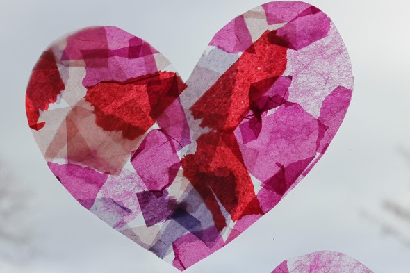 Valentine 39 S Day Card Stained Glass Hearts Huffpost Uk