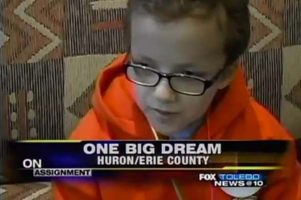 Seven-year-old cancer patient's dream comes true as he gets to blow up a building!