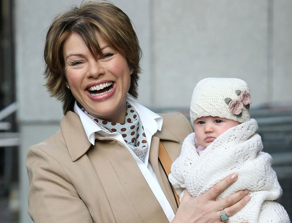 Kate Silverton and daughter Clemency
