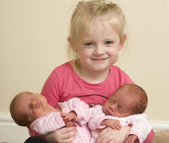 Triplet sisters born FOUR years apart!