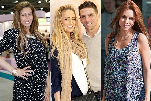 Battle of the celebrity bumps: Una Healy, Chantelle Houghton and Stacey Solomon show off their different maternity styles