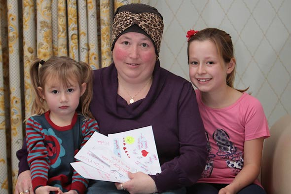 Daughter's love letters help mum beat breast cancer