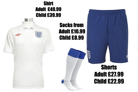 England football strip binned after just eight matches: Will you buy your child a new kit for £70?