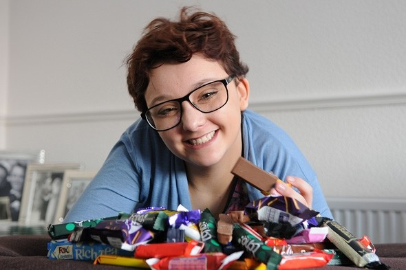 Girl given 6 months to live makes miracle fight-back on diet of chocolate, crisps and biscuits