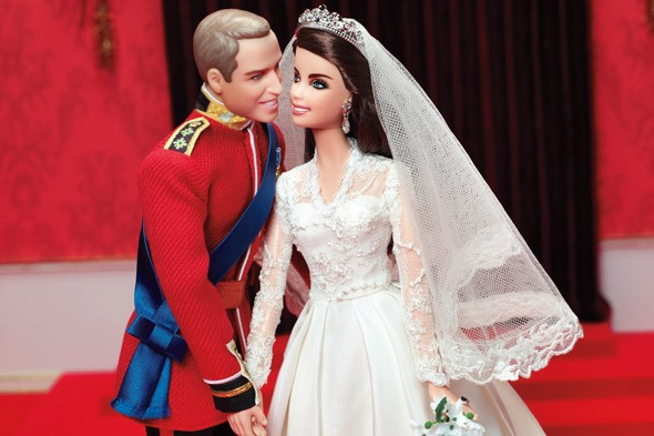 For the princely sum of £99.99...Wills and Kate are turned into Barbie dolls!