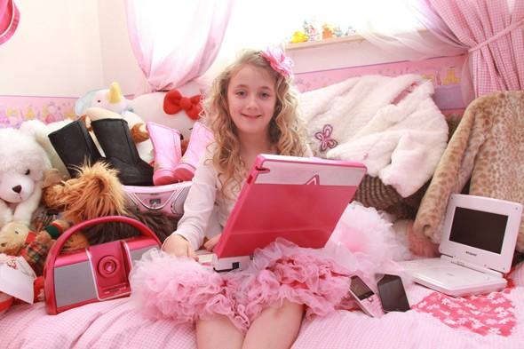 Mum spends £20,000 a year on presents for her nine-year-old daughter