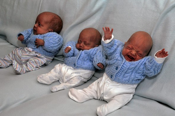 Baby boys born at 24 weeks are most premature triplets to have survived in Britain