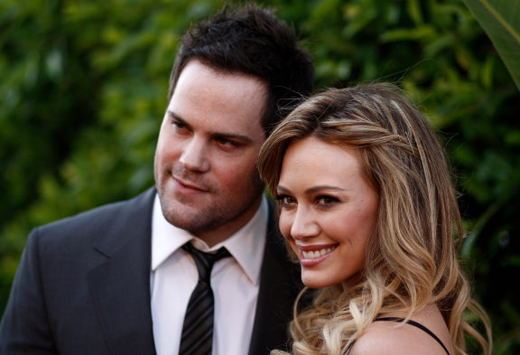 Hilary Duff  and husband Mike Comrie